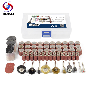 RIJILEI 160PCS BIT SET SUIT MINI DRILL ROTARY TOOL FIT DREMEL Grinding,Carving,Polishing tool sets,grinder head,Sanding disc rijilei 136pcs dremel rotary tool accessory attachment set kits grinding sanding polishing sander abrasive for grinder