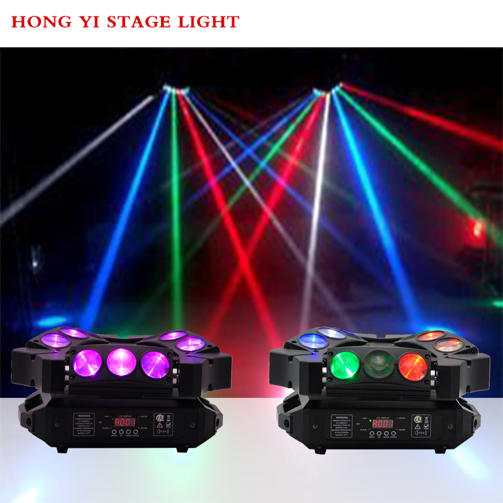 Mini Spider LED 9x12w Stage Light RGBW Beam Moving Head Spider Light Good For Dj Disco Party Lights (2pcs/lot)