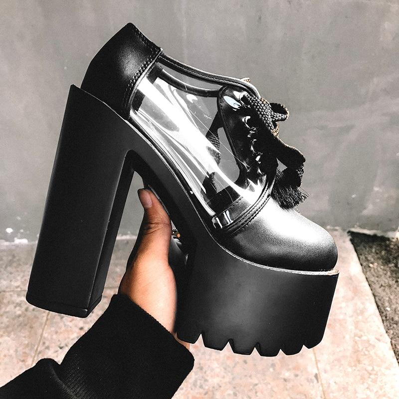 b6535bda74834d Noir À forme Et Américain Chaussures Simples Talons Tendance Discothèque  Hauts Nouvelle Européen Femmes Plate Sexy De Chaussures Sandales Été blanc  IwSU8qW