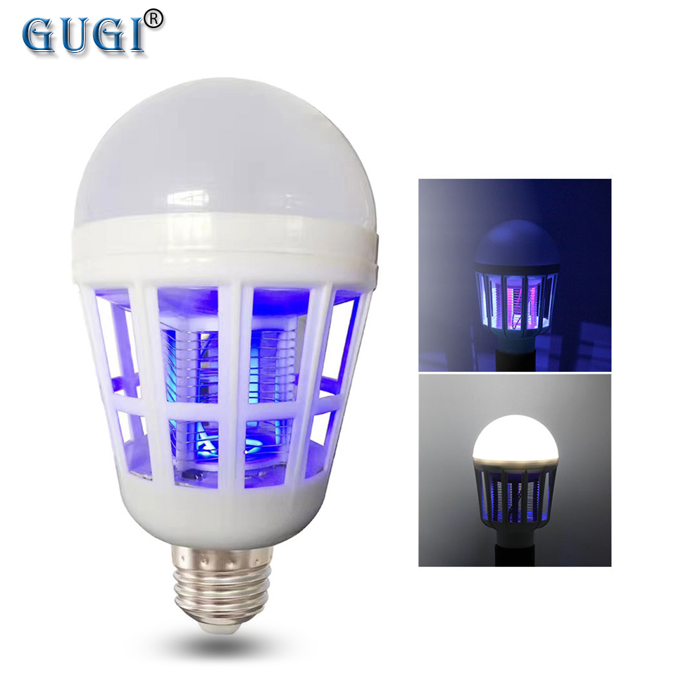 GUGI Mosquito Killer Lamp 2 In 1 LED Bulb Electric Trap 220V 110V 15W  E27  Anti Repellent Insect Bombillas Led Night Lamps