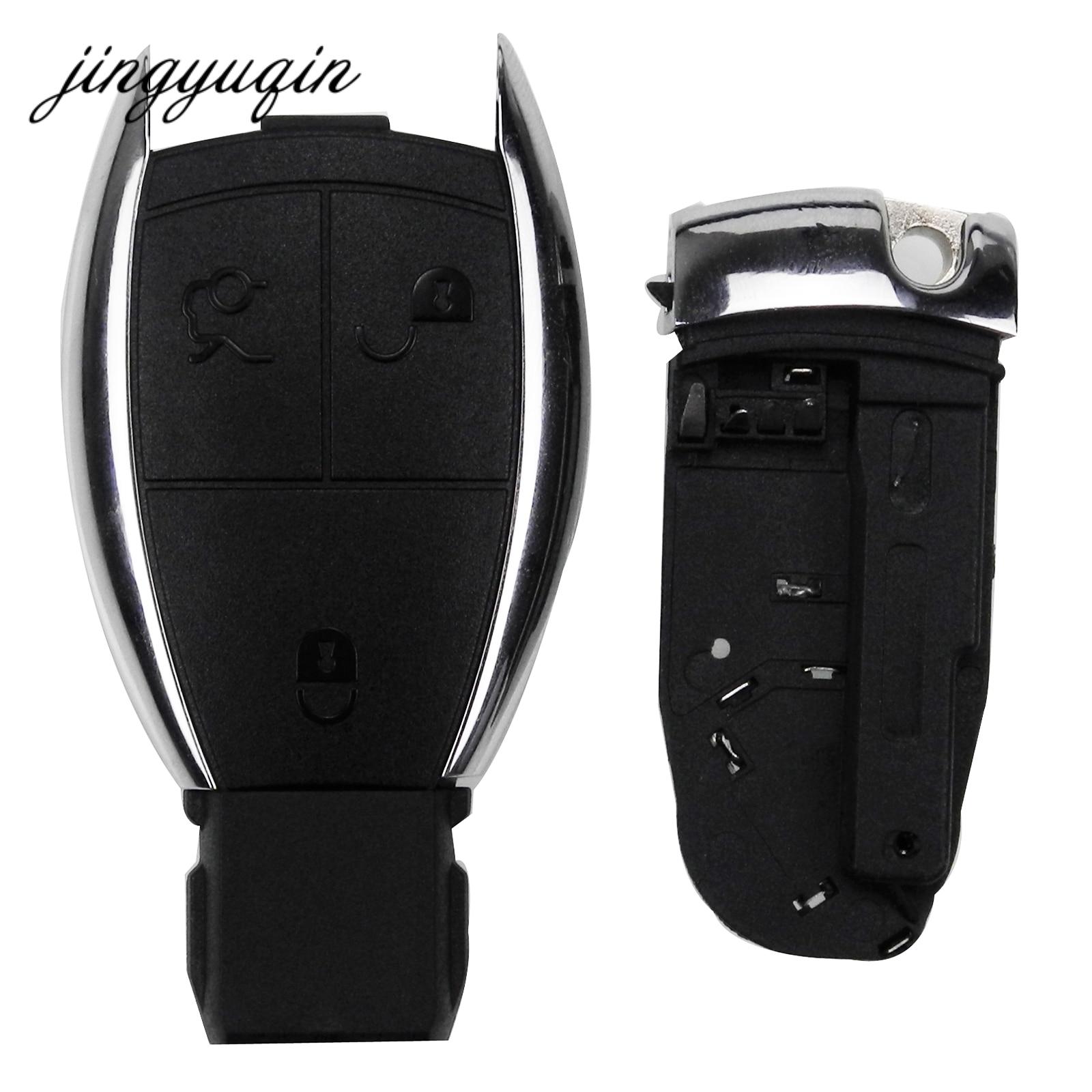 Jingyuqin für MERCEDES 3 Taste Remote Auto Schlüssel Fall Fob Shell für BENZ C E R S CL GL SL CLK SLK W203 fob + Batterie Halter Clamp