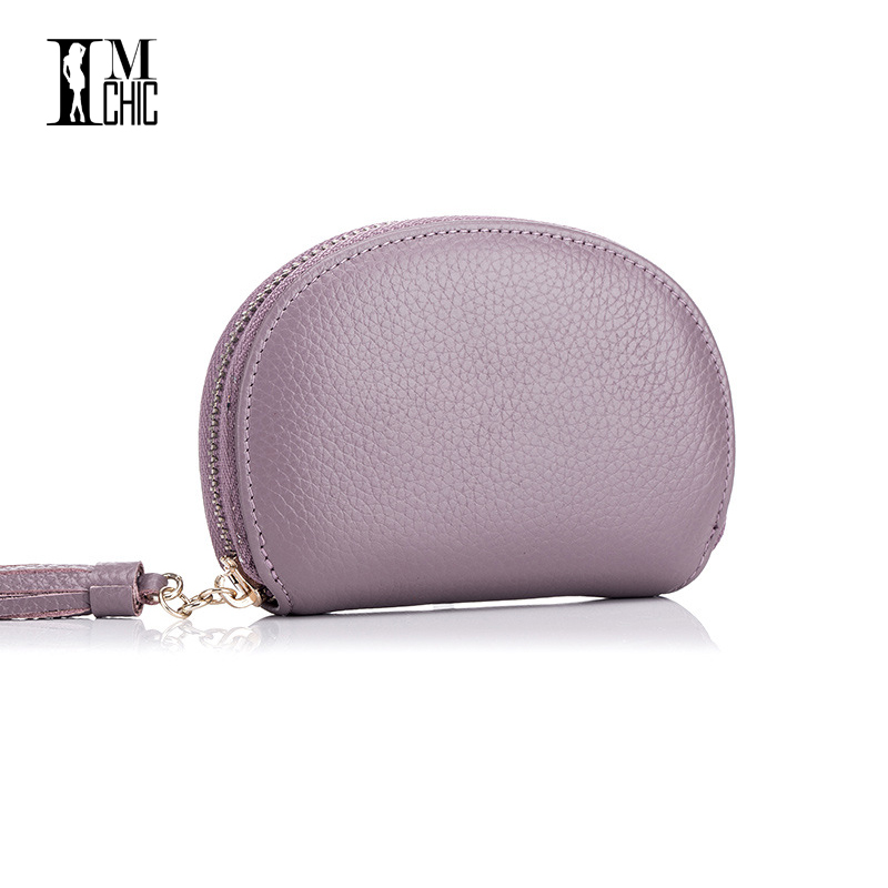 2017 Soft Genuine Leather Lux Women Card Holder Gift Coin Purse Candy color Real Skin Elegant Small Bag Mini carteira feminina