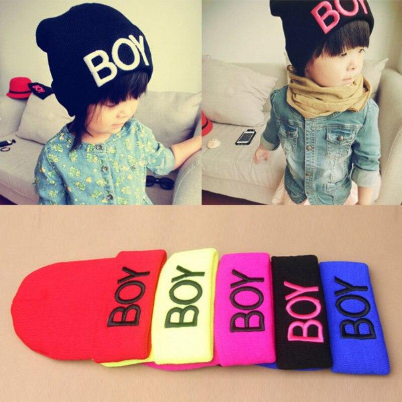 96fb142a535 New Fashion Toddler Baby Girl Boy Winter Warm Woolen Skull Hats BOY Beanie  Caps Ski Hats