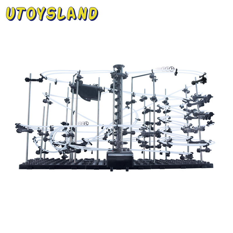 UTOYSLAND SpaceRail DIY Physics Space Ball Rollercoaster Level 1 3 4 With Steel Balls Powered Elevator Educational Toys Kids