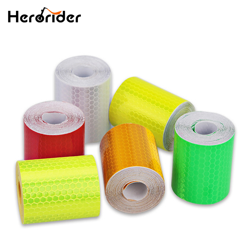 Herorider Car Reflective Tape Decoration Stickers Car Automobiles Warning Safety Tape Film Auto Reflector Sticker on Car Styling 50mm x 3m reflective tape adhesive stickers decal decoration vw warning tapes vinyl film safety auto reflector sticker on car