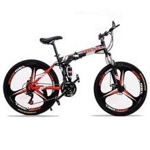 24 speed 26″ inch Mountain bike folding bicycle Road Bike  Brand Unisex Full Shockingproof Frame bicycle  Spring Fork