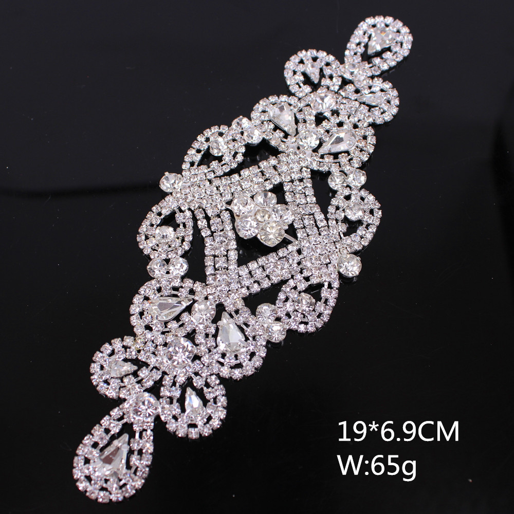 Detail Feedback Questions about Handmade flower bridal sash rhinestone  patches cheapest exquiste sew on beautiful applique wedding dress headband  decoration ... 205a50271dfb