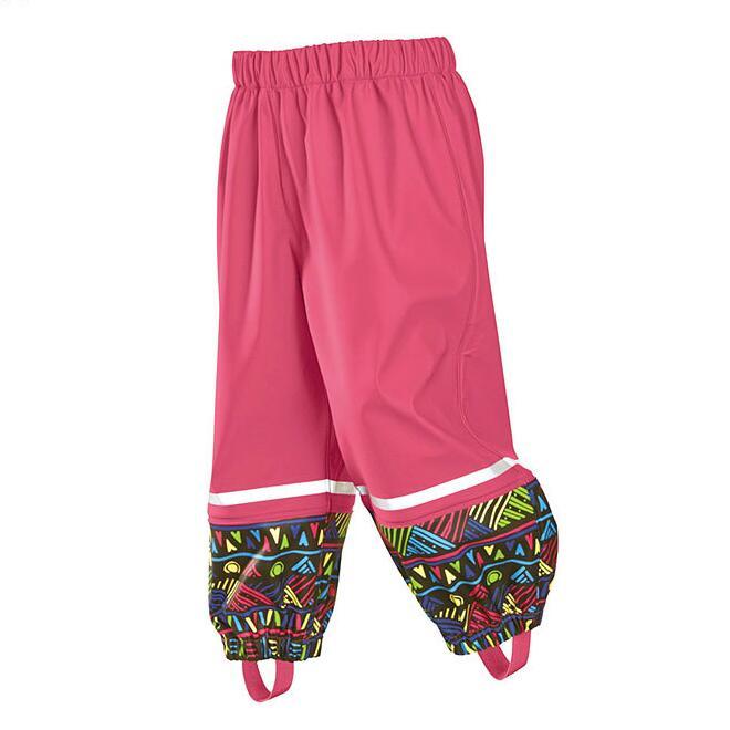 Children Pants Outdoor Boys PU Pants Windproof Waterproof Girls Pants Kids Rainproof Trousers 3 9Years