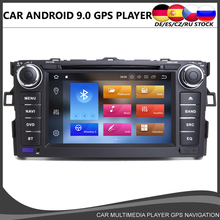 цена Octa core Android 9.0 Car DVD GPS player For Toyota AURIS Altis COROLLA WIFI 4GB RAM+64GB ROM DSP USB Radio Navi BT DAB TPMS MAP