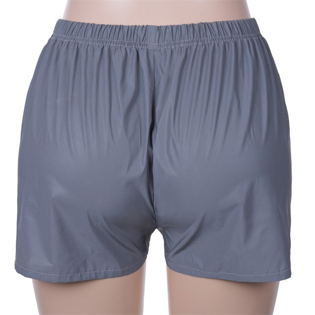 New Women's Sexy Reflective Shorts Slim Fit Booty Casual Shorts