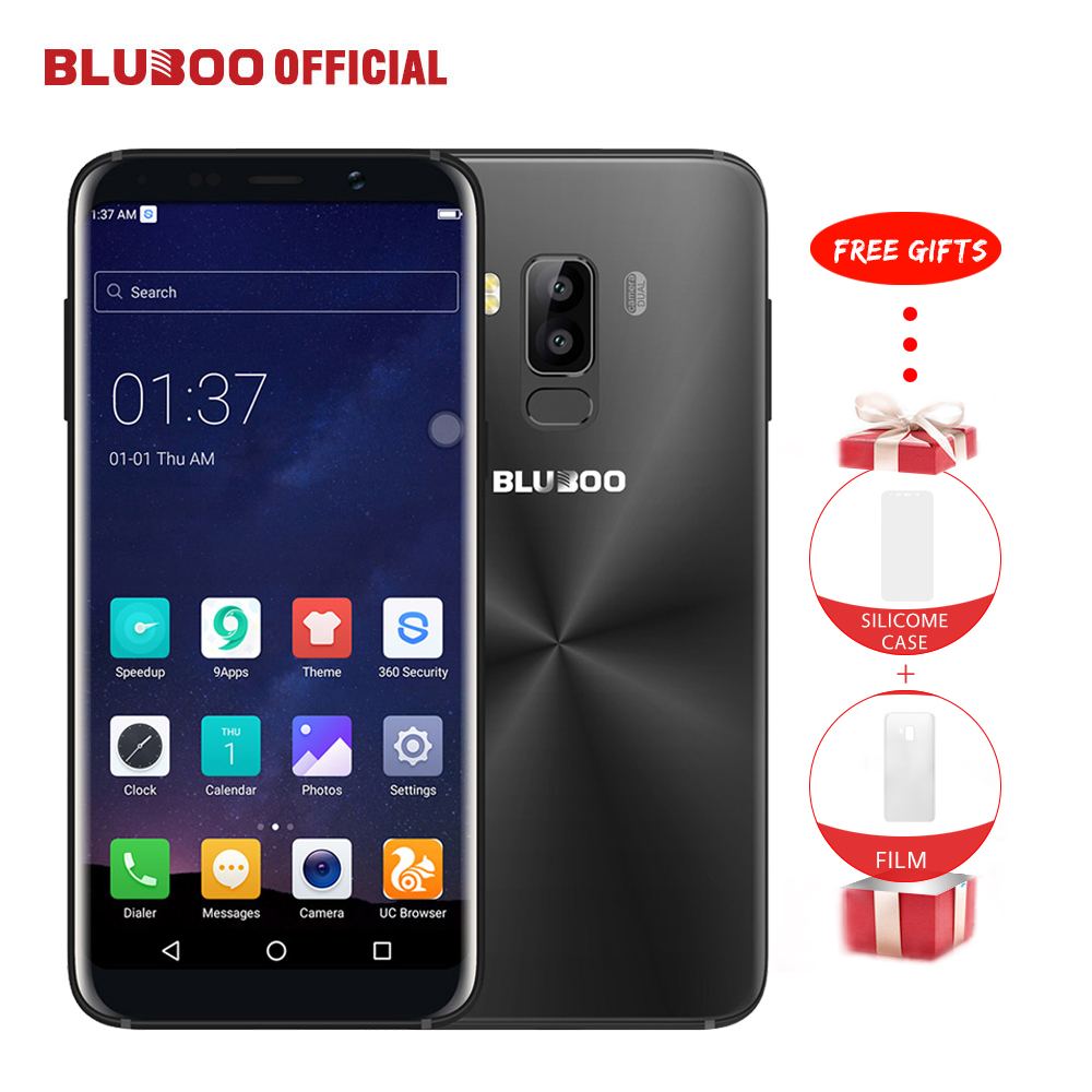 Bluboo S8 5.7'' Full Display 4G Smartphone 3GB RAM 32GB ROM MTK6750 Octa Core Android 7.0 Dual Rear Camera Mobile Phone