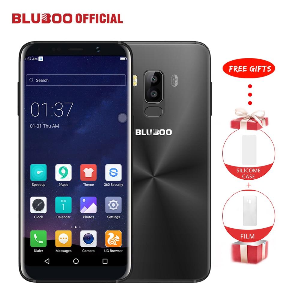 Bluboo S8 5.7 ''Volledige Display 4G Smartphone 3 GB RAM 32 GB ROM MTK6750 Octa Core Android 7.0 Dual Achteruitrijcamera Mobiele telefoon