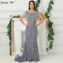 SERENE HILL Elegant Illusion Mermaid Evening Dresses 2019
