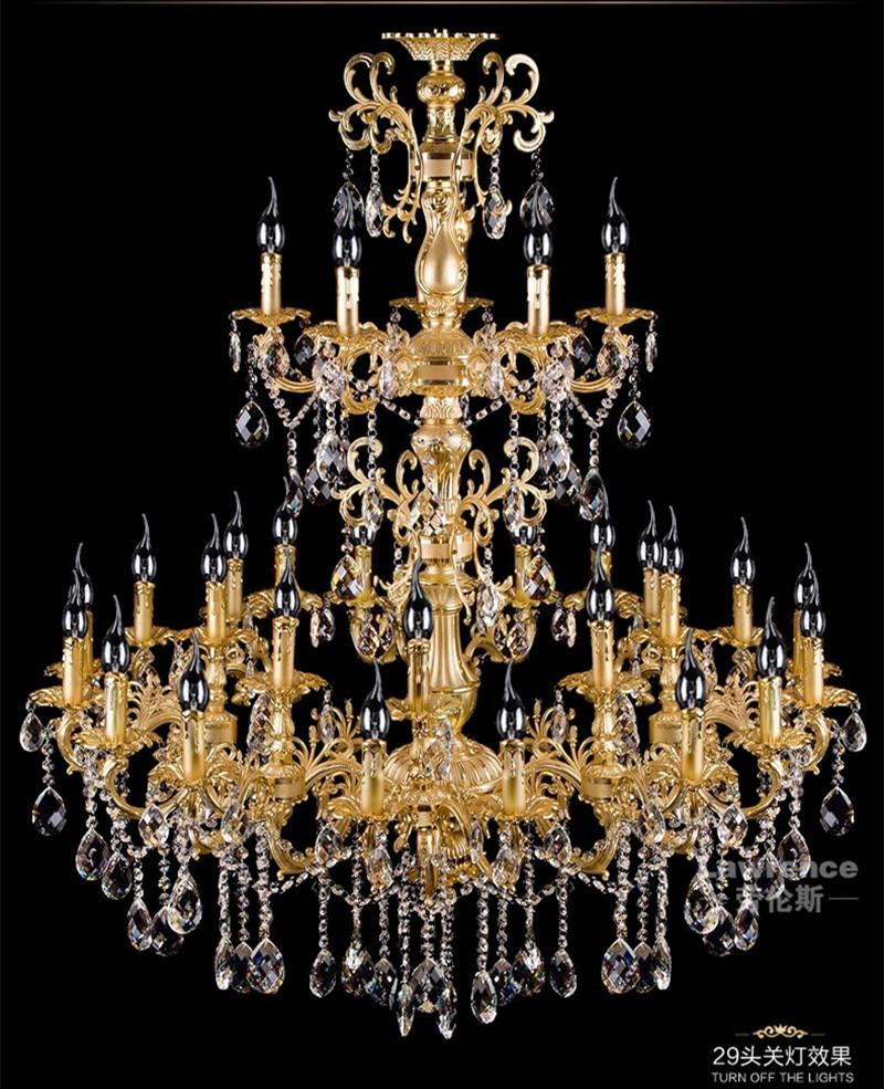 projekts antīkās 29 galvas zelta led lustra kristāla droplight - Iekštelpu apgaismojums - Foto 1