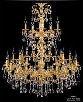 project Antique 29 head Gold led chandelier crystal droplight parlor foyer hotel large vintage candle chandelier lighting lustre