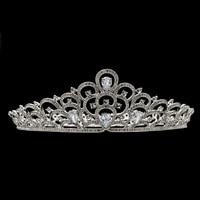 Real Austrian Crystals Rhinestone Clear CZ Cubic Zirconia Royal Tiara Crown for Bride Wedding Hair Jewelry Accessories SHA8780