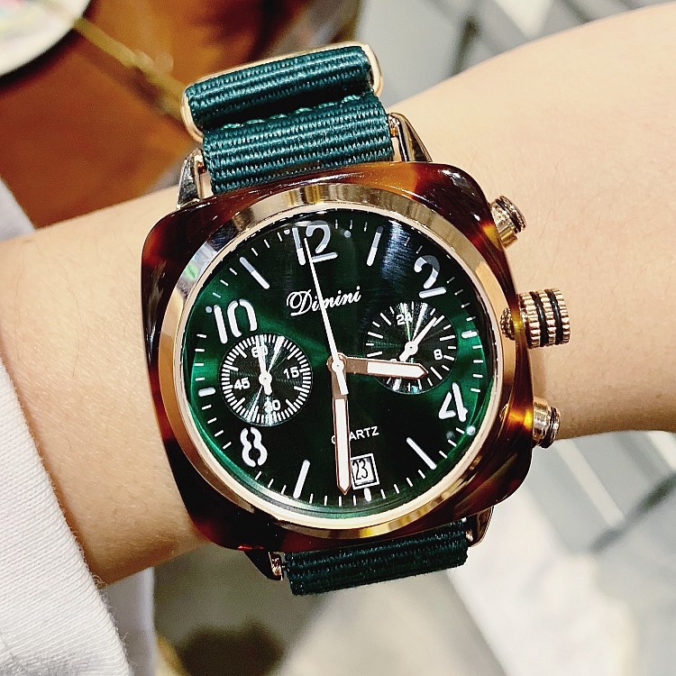 New trend personality ladies British style multi-function watch canvas strap womens watchNew trend personality ladies British style multi-function watch canvas strap womens watch