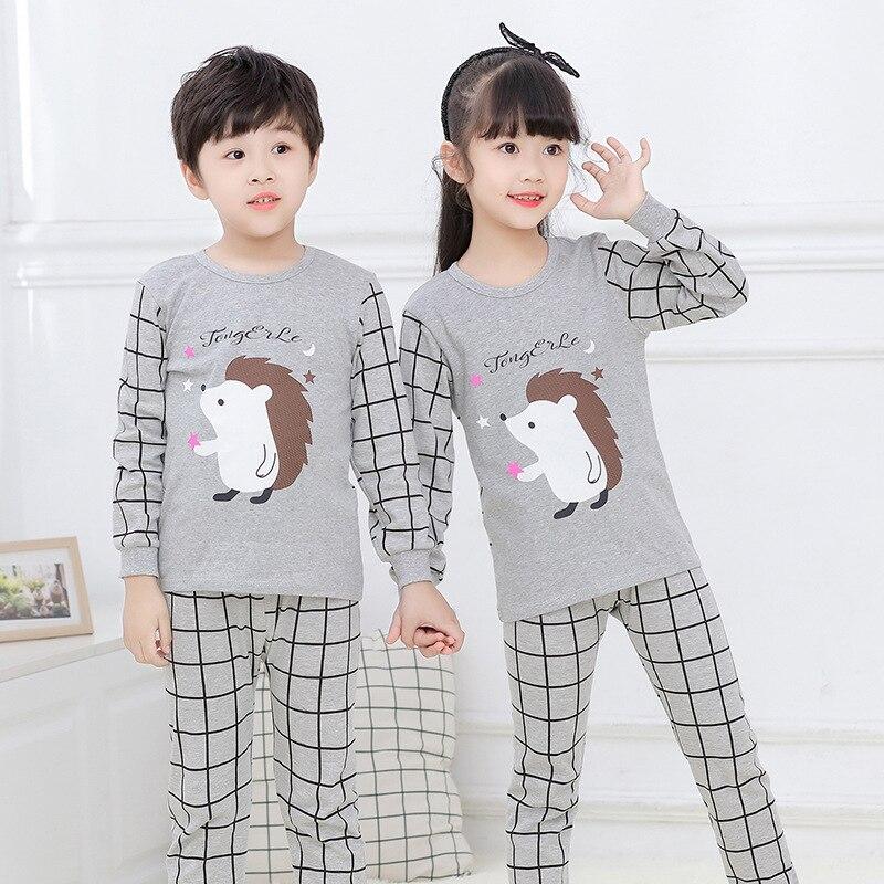 Autumn Kids Pajamas Sets Boys Sleepwear Pyjamas Children's Pajamas Suit Baby Girl Clothes Little Teens Long Sleeve Girls Pijamas