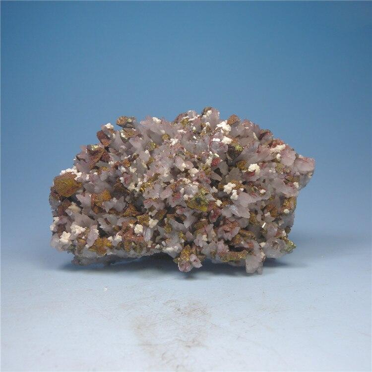 Spécimens minéraux naturels en cristal rouge de pierre de dolomite symbiose