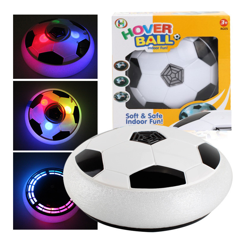 19.5cm Glowing Music Football Kids Play Hover Soccer Fun Light Air Cushion Suspended Football Indoor Outdoor Sports Toy Ball image