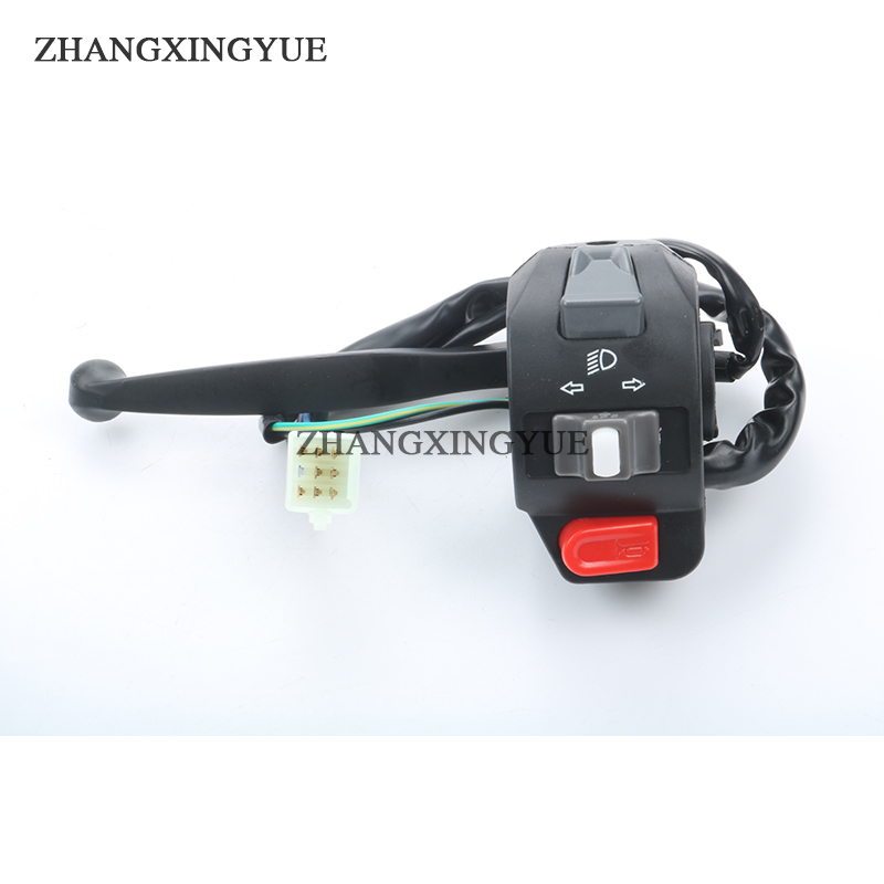 Chinese Scooter Left Side Drum Brake Switch Housing for GY6 125cc150cc 152QMI 157QMJ BWS125 Moped Scooters ATV gy6 125cc 52 4mm scooter engine rebuild kit cylinder kit cylinder head assy for 4 stroke 152qmi moped scooter go kart atv