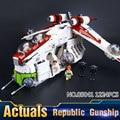 2016 LEPIN 05041 1175 Unids Stars Wars Republic Gunship Kits de Edificio Modelo Bloques Ladrillos Niños Juguetes de Regalo Con 75021