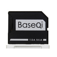 BASEQI Aluminum MiniDrive Micro SD Card Adapter TF Card Reader For Macbook Pro Retina 15 Mid