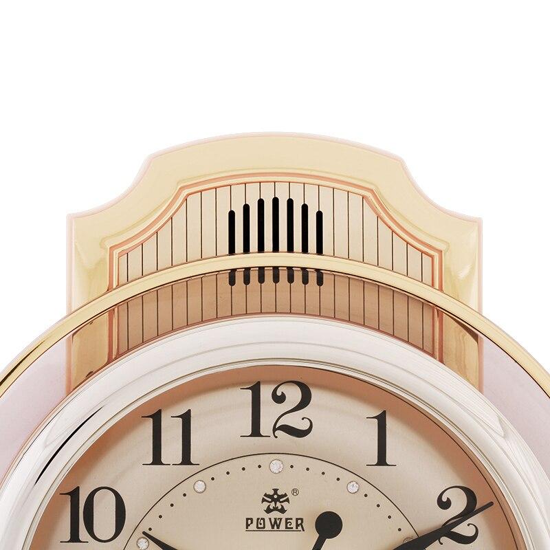 16 дюймов, современные бесшумные настенные часы с точным механизмом, ежечасный музыкальный колокольчик и яркие часы, офисные кварцевые часы,... - 4