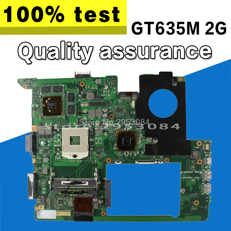 N76VJ Motherboard REV:2.2 2GB GT635M USB3.0 For ASUS N76VB N76VM N76V N76VZ Laptop motherboard N76VJ Mainboard N76VJ Motherboard kefu for asus n76vj n76vz laptop motherboard n76v mainboard rev 2 2 gt635 non integrated 100