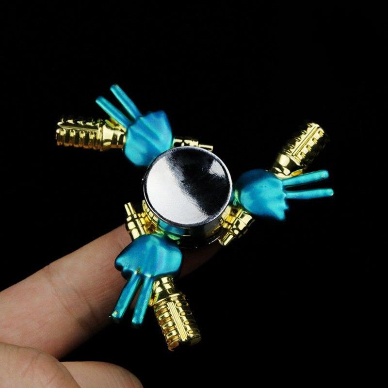 Hot Fashion Metal EDC Hand Spinner Finger Fidget Hybird Bearing Gyro Kid Adult Focus Toy Home