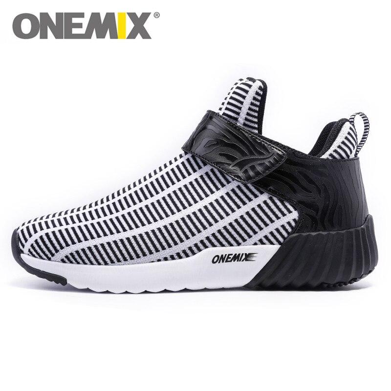 Nuevo estilo de botas altas de los hombres negro blanco zapatos corrientes de lu