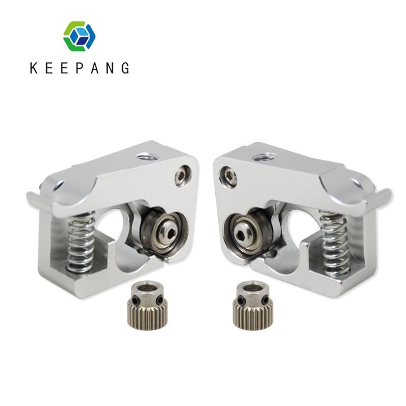 Mk10 extrusora direta remota parte de alumínio j-cabeça extrusão direita mão esquerda braço de metal completo bowden impressoras 3d peças de alumínio