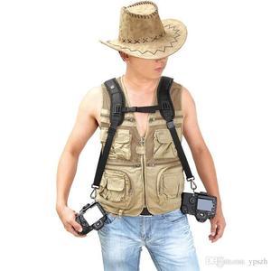 Image 3 - שחור חדש באיכות גבוהה מקצועי מהיר כתף זוגית מצלמה קלע חגורה רצועה עבור DSLR SLR המצלמה Canon Nikon Sony