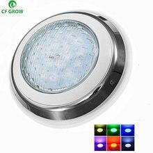 12W 15W 18W 24W LED oświetlenie do basenu IP68 wodoodporna AC/DC 12V zewnątrz RGB światło podwodne staw LED Piscina Luz Spotlight