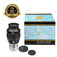 лучшая цена New Explore Scientific Eyepiece 82 degree Extreme Wide Field Waterproof 1.25inch 6.7mm Argon-Purged