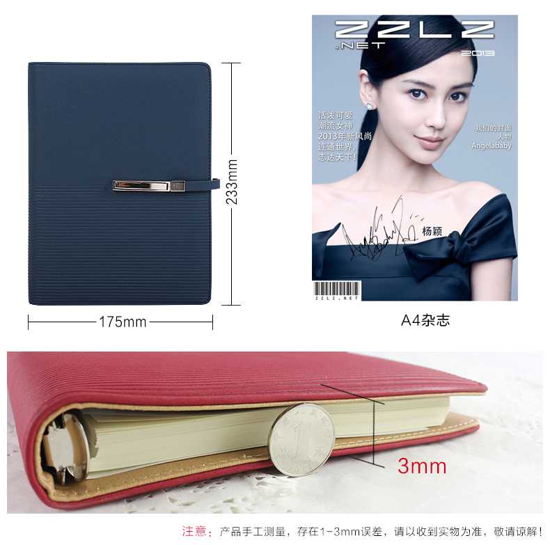Купить с кэшбэком RuiZe Creative spiral notebook A5 leather planner agenda 2020 loose leaf notebook 6 ring binder office note book stationery