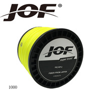 JOF 8 Strands 1000m 8 Colors PE Big Horsepower Braided Fishing Line 8Weaves Strong Braided Wire