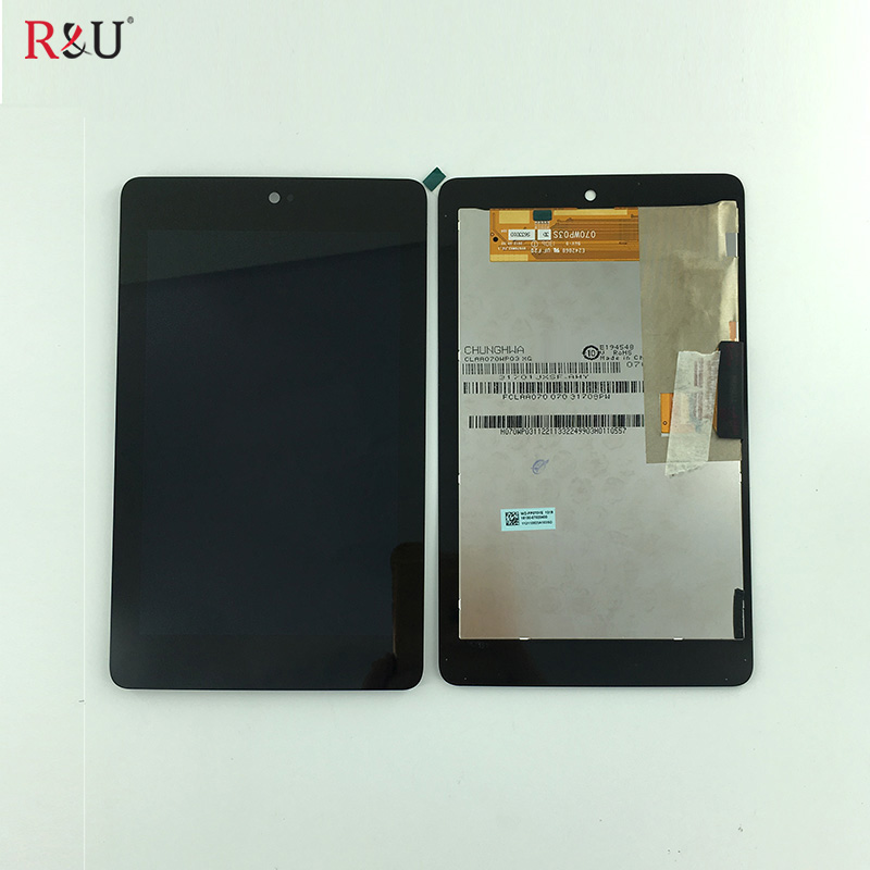 R&U new LCD display & Touch Screen panel digitizer assembly for ASUS Google Nexus 7 1st Gen nexus7 2012 ME370 ME370T ME370TG black case for lg google nexus 5 d820 d821 lcd display touch screen with digitizer replacement free shipping