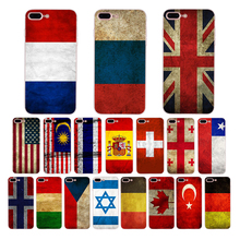 National flag art retro pattern design Soft silicone phone case for iPhone 6 plus 7 8 6s x xs max xr 5s se 5 cover shell Funda