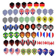 HobbyLane Smile 60pcs 2D Cool Standard Darts Flying Nice Outdoor Wings Mixed Mode Dart Accessories Hot Sale