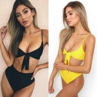 2018 New Sexy Bikini Set Brazil Biquinis Swimsuit Women Bandage Summer Beach Swimwear Bathingsuit Women High