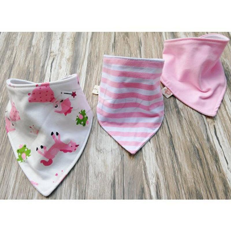 Baby Boy Girl Saliva Towel Bandana Bib Dribble Triangle Kids Head Scarf