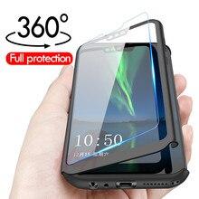 H & Bir Lüks 360 Tam Kapak Kılıf Huawei Onur Için 8 8X MAX telefon kılıfı Için Huawei Onur 10 9 8 Lite Koruyucu Kılıf Kabuk Cam