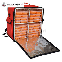 16 L x 9 W x 16 H Pizza Cak Delivery Box, Big Pizza Delivery Bag Catering Carrier, Backpack 2 Way Zipper Closure PHSB 462646o