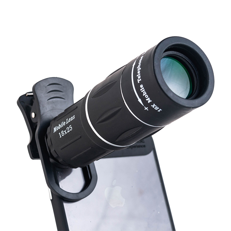Yihailu Universal 18X Optical Zoom Mobile Telescope HD Cellphone Telephoto Lens Camera For Watching basketball/football/Concert