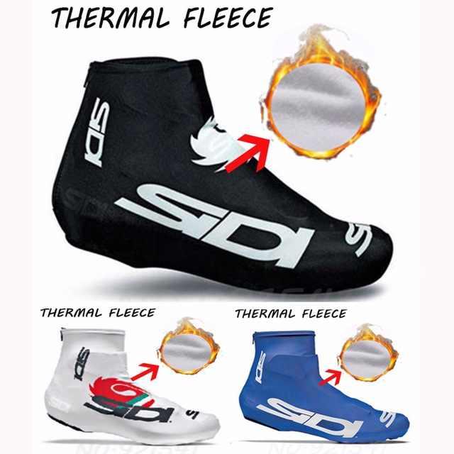 6 צבעים צמר תרמי חורף רכיבה על אופניים נעל כיסוי נעל אופני רובוטים כביש אופניים MTB חורף חם רכיבה על אופניים נעל כיסוי