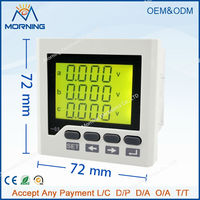 3UIF6Y Panel Size 72 72 Hot Sale Low Price Ac Lcd Digital 3 Phase Voltmeter And