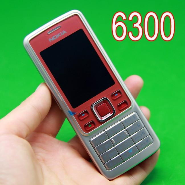 Цена за Оригинальный Nokia 6300 Mobile Phone Unlocked RED & Русская клавиатура и один год гарантии