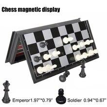 20 наборов, Складная магнитная настольная игра, пластиковые шахматы, шашки и нарды, 3 в 1, шахматные наборы с шахматной доской и шахматными фигурами