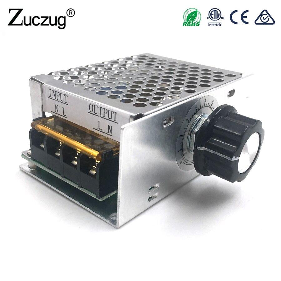 4000 watt 220 v AC SCR Spannung Regler Dimmer Elektrische Motor Speed Controller Elektronische Volt Regler Dimmer Thermostat Regler